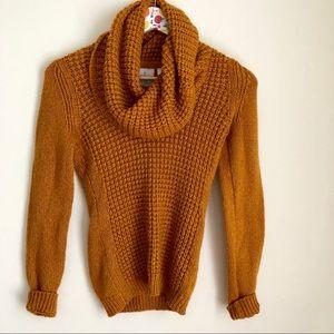 Angel of north wool mustard waffle knit sweater S